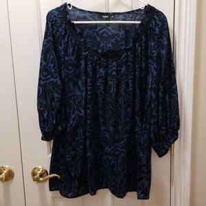 a.n.a. paisley blouse sz 1X